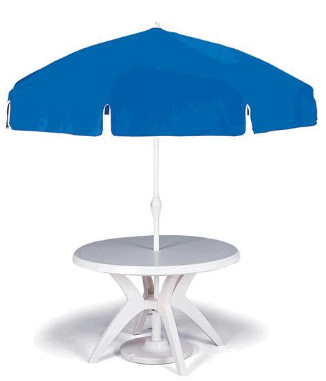 """46"""" Round White Outdoor Resin Grosfillex Ibiza Restaurant"""