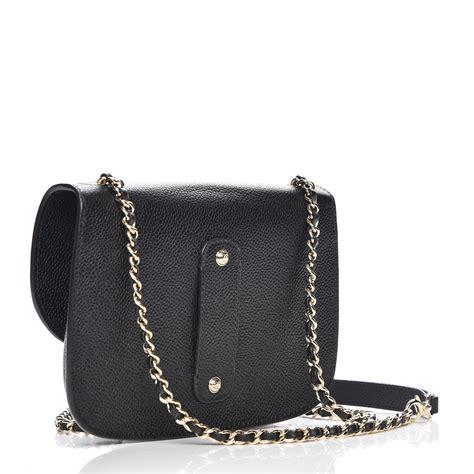 chanel caviar mini chain flap bag black 217917
