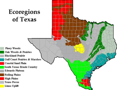 texas ecosystems map terrestrial biomes