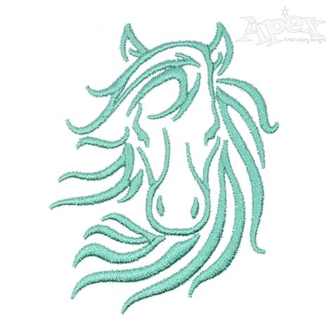 embroidery design horse horse face embroidery design