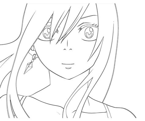 free coloring pages of erza scarlet