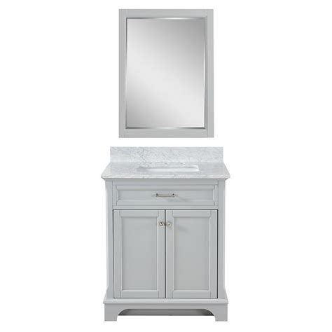 marble top bathroom vanity shop allen roth roveland light gray undermount single