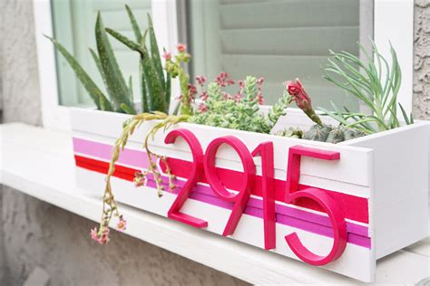 design milk address diy modern address planter design milk