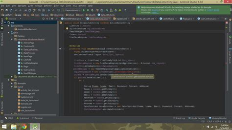 android cannot resolve symbol r sqlite cannot resolve symbol getreadabledatabse in android studio stack overflow