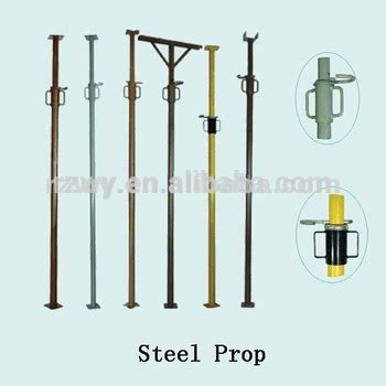 Pained Steel Prop Adjustable Steel Support Post Tube For