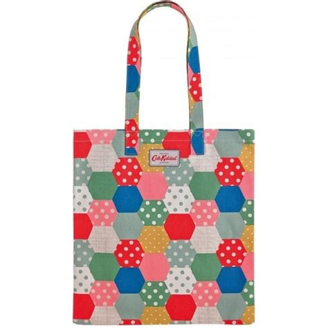 Cath Kidston Patchwork - cath kidston patchwork spot cotton bookbag cloth carry