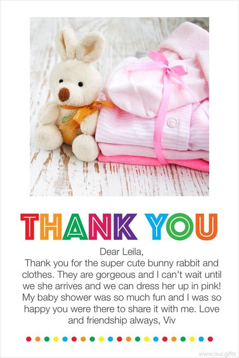 Baby Shower Gift Note by Thank You Notes For Baby Shower Gifts Card Gift As
