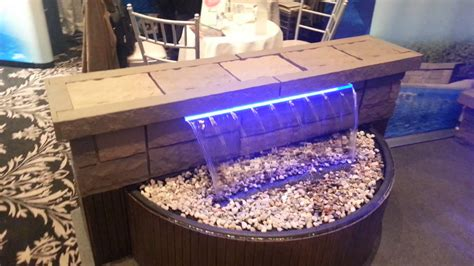Low Voltage Led Lights Nirvana Hp Swimming Pool Waterfall With Led Lights Youtube
