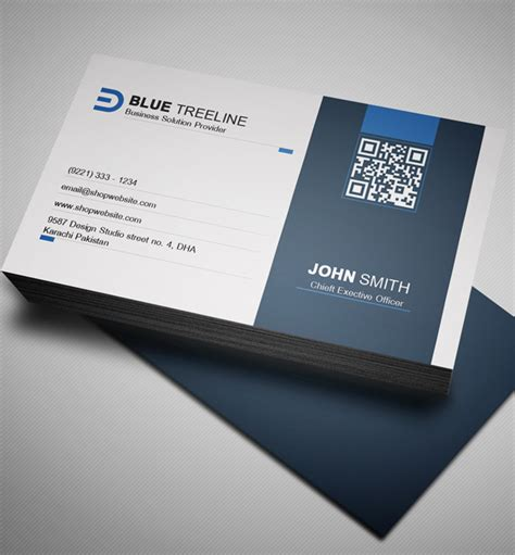 free modern business card psd template freebies