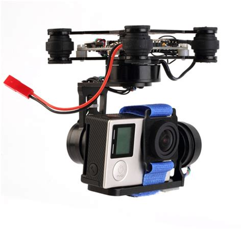 Gopro Phantom fpv 3 axis cnc metal brushless gimbal with controller for dji phantom gopro 3 4 only 180g alex nld