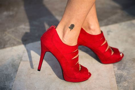 small rose tattoo on ankle creativefan