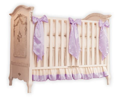 Silk Crib Bedding Lavender And Ivory Silk Crib Bedding
