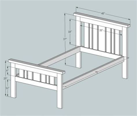 simple  misson style bed bed styling diy twin bed