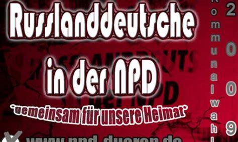 Rechtsradikale Aufkleber Kaufen by Rechts Contra Nrw Will Npd Die Russlanddeutschen Klauen