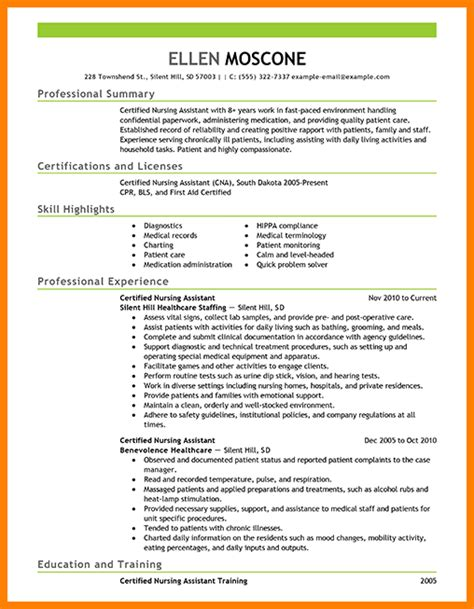 100 entry level certified nursing assistant resume how to write my computer skills on a
