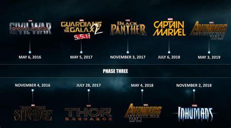 marvel film release list full marvel movie release calendar