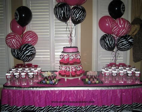 zebra print themed birthday party party tales birthday party zebra print and hot pink