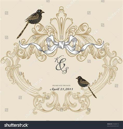 cover design invitation vintage cover design best scrapbook project stock vector