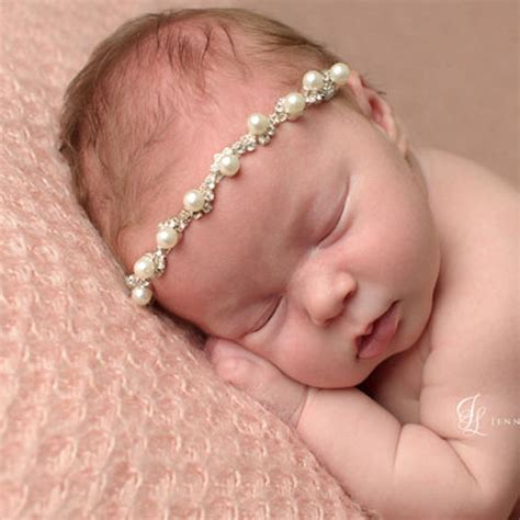 Fuschia Baby Headband Baby Headband aliexpress buy 1pcs pearl with elastic headbands pearl headband for