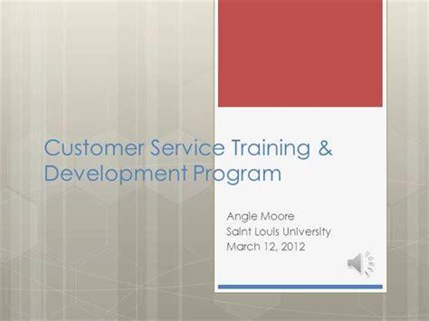 customer service training development program slideshow
