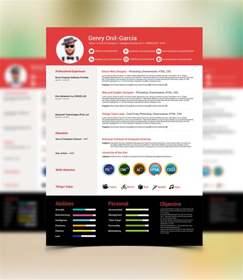 ux design templates free simple resume design template for ui ux designers