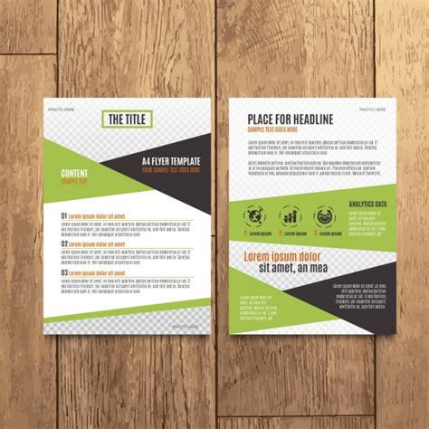 Brochure Modern Design by Modern Corporate Brochure Design Vector Free