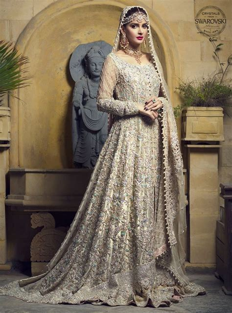 gold lame gown pakistani bridal dresses bridal dresses