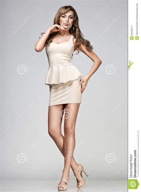 how to dress good for women i their 40s woman in beige dress stock image image of beauty look