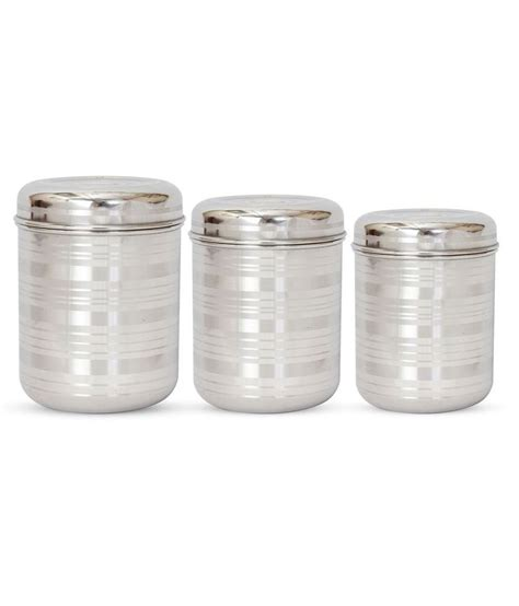 Hazel Kitchen Storage Stainless Steel Container 3 Pcs