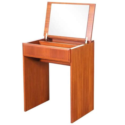 Flip Top Vanity Table Modern Flip Top Teak Dressing Or Vanity Table For Sale At 1stdibs