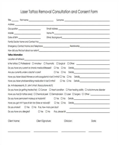 tattoo aftercare template tattoo consultation form template tattoo ideas ink and