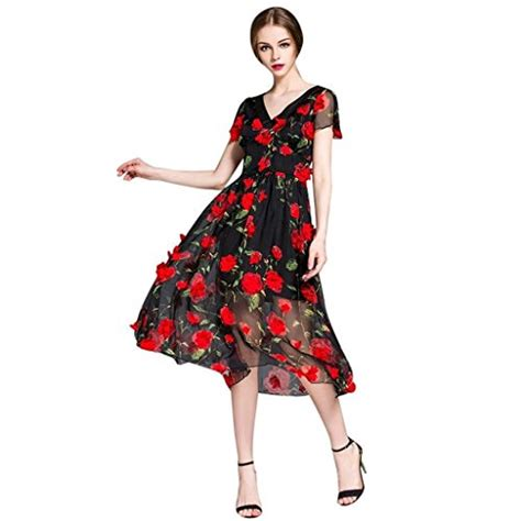Dress Roses Black flowery dresses for beautiful and webnuggetz