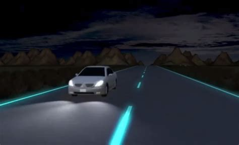 glow in the paint roads glow in the highways netherlands roads light up with