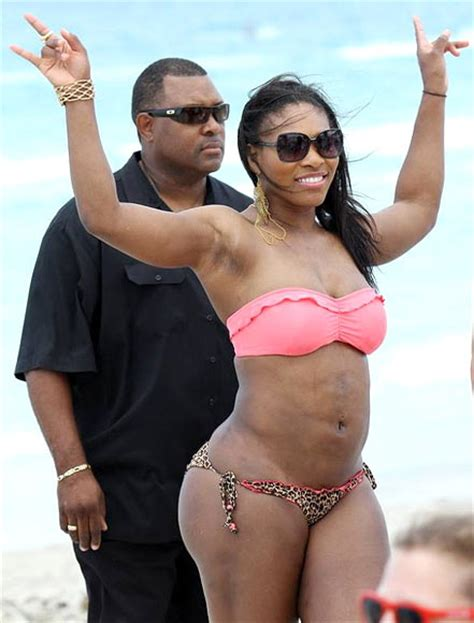 serena williams shows  bikini body  holiday rediff sports