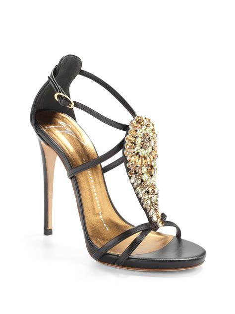 jeweled high heels giuseppe zanotti jeweled teardop high heel sandals in
