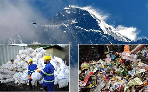pounds  trash  bodies removed  mount everest