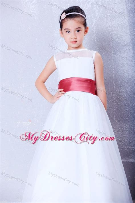 Princess Bateau Organza and Taffeta Flower Girl Dress with