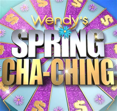 The View Spring Cash Sweepstakes - wendy s spring cha ching sweepstakes win cash up to 5 000 by ma