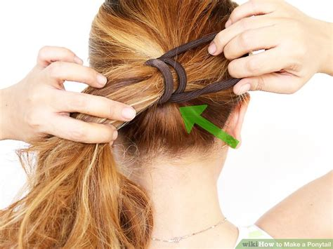 tying of long hair 4 ways to make a ponytail wikihow