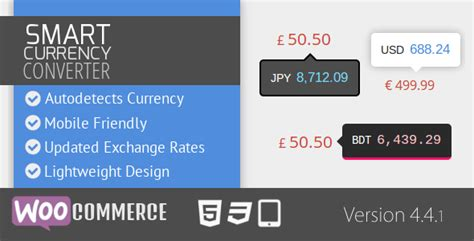 currency converter wordpress plugin smart currency converter for woocommerce by codehound