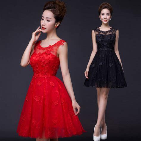 vestidos de damas de honor rojos cortos - Vestidos Dama De Honor Cortos
