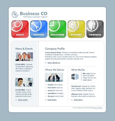 html business templates free with css free business templates free css templates free