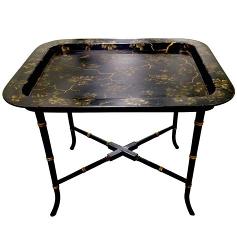 chinoiserie black and gold papier m 226 ch 233 tray table