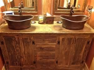 Rustic Bathroom Sink Cabinets - rustic bathroom vanities bathroom designs ideas