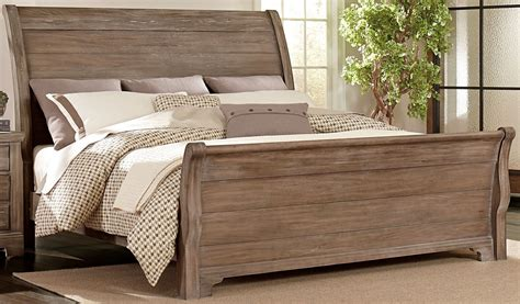 Rustic Grey Bedroom Set by Whiskey Barrel Rustic Gray Sleigh Bedroom Set From
