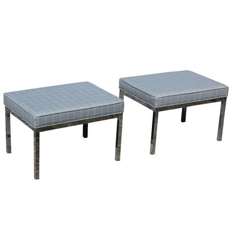 mid century modern benches 2 mid century modern restored chrome bench ebay