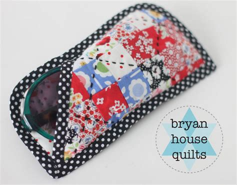 free pattern quilted eyeglass case sunnygtut tutorial here becca flickr