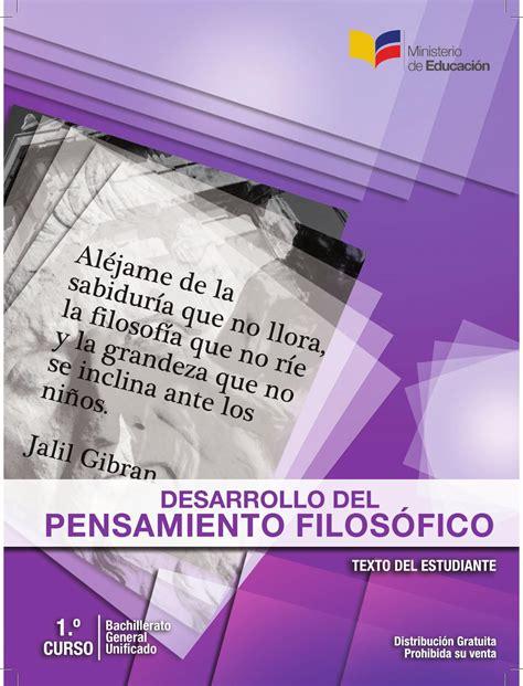 libros de filosofia bachillerato pdf libro desarrollo pensamiento filosofico by erick vera issuu