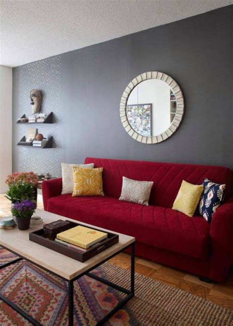 wohnzimmer mit rotem sofa mid century sofa tag sven charme sofa sven