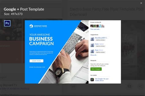 7 Free Google Post Templates Business Fashion Maps Travel Free Premium Templates Ad Post Template